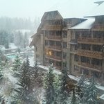 Beautiful snowy view of Whistler