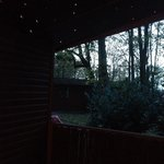 Twinkly lights above the hot tub