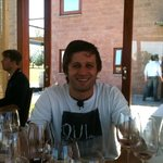 Fernando at our incredible winery lunch he arranged!