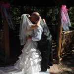 Toigo Wedding at Candlewyck Cove Resort Gazebo. 1st kiss as husband and wife!!
