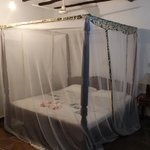 Nice beds with good mosquito nets