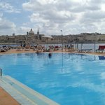 Pool & view of Valetta