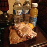 Drinks and pastries in runners' rooms!