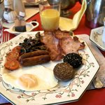 Our first true, lovely Irish breakfast.