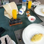 our first in villa breakfast