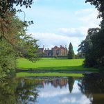 On the bridge by the pond, looking back at Tylney Hall