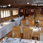 Barn Style function room available for weddings
