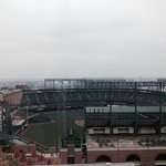 Our view of Camden Yards from the room.