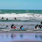 surf class at Piha beach
