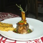 Main dish - lamb - Hotel Alpina. SEP13