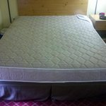 full size not queen with no mattress protectent just a fitted queen sheet which slides off becau