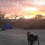 My campsite at Furnace Creek campground