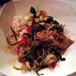 My meal, the Triglia al Burro. Pic quality isn't great, but the food was!