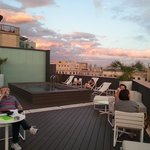 Relaxing rooftop bar with great views