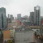 A view of downtown Vancouver from my room