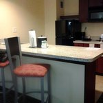 kitchen in king suite w/kitchen hampton inn & suites arrowood