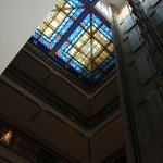 Lovely stained glass roof!