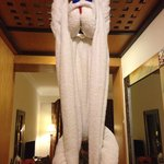 Monkey made from towels