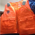 worn-out life jacket in the rooms