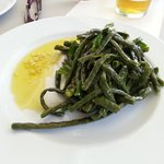 Mykonian string beans at nearby La Louna Taverna