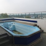 Rooftop swimming pool out of service