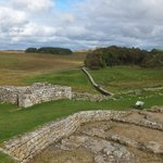 Remains of the Roman fort and Hadrian's wall