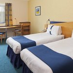 A twin room at our Holiday Inn Express hotel in Northampton