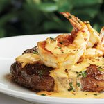 Bone-In Ribeye with Diablo Shrimp Topping