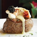 Main Filet Mignon with Truffled Poached Lobster Topping