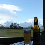Vista do quarto do hotel - Torres del paine