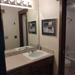 Both Lake Cliffe condo bathrooms are equipped with tubs and showers