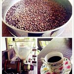 Lao Wu's home make organic coffee