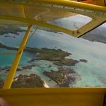 See the island from the air, just open the window....
