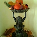 Frog with the fruit bowl - metal statue (of course with real fruit ;):D ... )