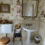 Peach bathroom