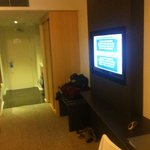 Entry to studio room.. Huge t.v
