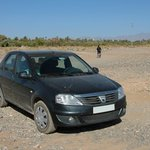 We had to drive through this dried river to get to Dar Lorkam.