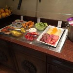 Full Breakfast Buffet with Fresh Fruit and Smoked Salmon