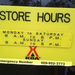 Store hours of camp store and check in.