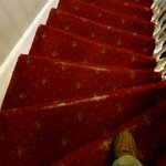 threadbare carpet on stairs