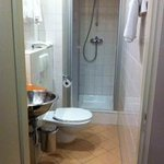 Weirdly thin bathroom - no you cannot sit on that toilet if you are tall