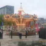 Fun merry go round in Beatle city