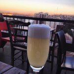 Pisco sour on the balcony