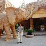 At the entrance of Kingdom of Dreams, Gurgaon