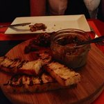 Chacuterie with duck liver Mousse with jam!  Incredible!