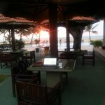 Quite comfortable to work by the bar, next to the pools