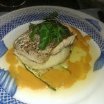 Pan seared hake