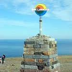 71 10'21 N marker for North Cape, Norway