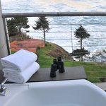Enjoy the beautiful view from your private deck Jacuzzi