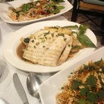 Drunken noodles, Fish with pineaple & Thai pasta